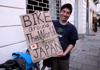 Keiichi Iwasaki, le magicien japonais qui parcourt le monde à vélo depuis 15 ans