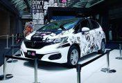 Japon : Une Honda Fit aux couleurs des héros du Weekly Shonen Jump