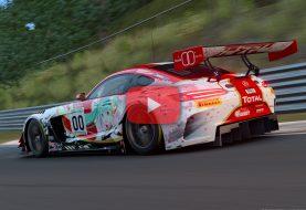 Gran Turismo Sport : Une Mercedes AMG GT GT3 Hatsune Miku sur le Nürburgring