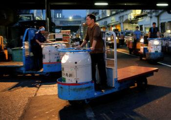 Japon : Du marché de Tsukiji à celui de Toyosu en Turret Truck